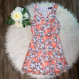 • Banana Republic Orange Floral Dress •